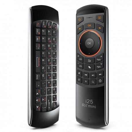 خرید مینی کیبورد ریموت و ایرموس Rii i25 2.4GHz Wireless Keyboard Air Mouse