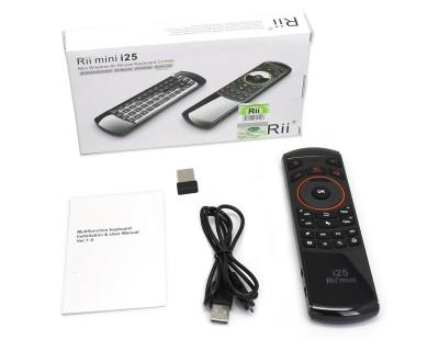 مینی کیبورد ریموت Rii i25 2.4GHz Wireless Keyboard Air Mouse