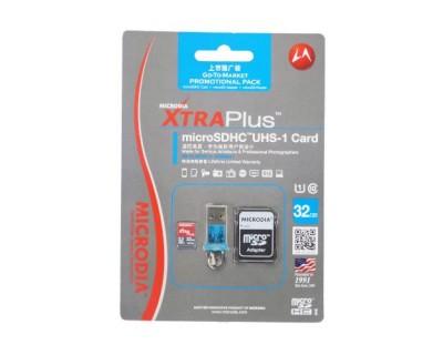 قیمت کارت حافظه و فلش ریدر Microdia XTRAplus microSDHC UHS-1 16GB Class 10