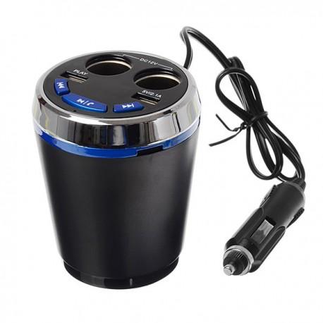خرید اف ام پلیر بلوتوثی، هندزفری و شارژر لیوانی FM Player Bluetooth Chrger Handsfree Multifunctional Car Cigarette Lighter