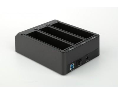 قیمت خرید داک استیشن هارد دیسک سه تایی فیدکو FIDECO USB 3.0 Hdd Docking Station