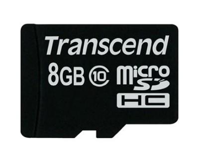 کارت حافظه Transcend Class 10 MicroSD - 8GB