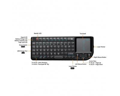 قیمت خرید مینی کیبورد و پرزنتر بی سیم ری Rii RT-MWK01 Presenter & Mini Keyboard