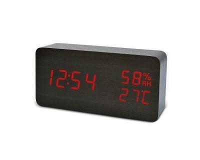 قیمت خرید ساعت و دماسنج رومیزی دیجیتال طرح چوب مستطیلی Woody Clock