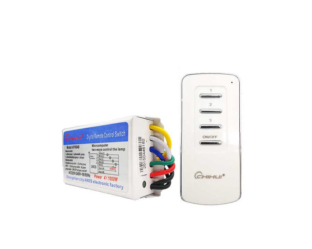 قیمت خرید سویچ با ریموت کنترل  سه 3 کانال chihui برای کنترل ازراه دور چراغها