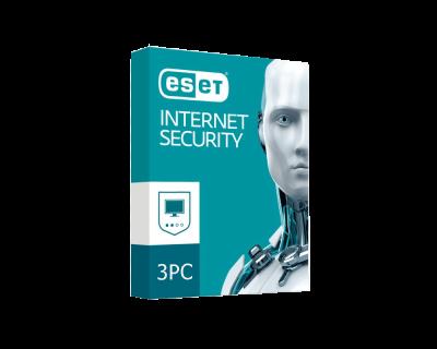 خرید لایسنس اورجینال آنتی ویروس سه کاربره ESET Internet Security 3 PC