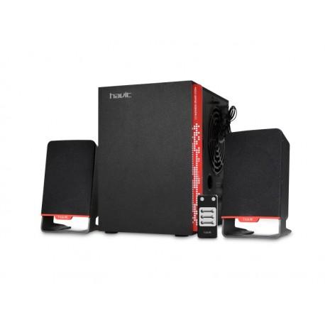 قیمت اسپیکر رم و فلش خور بلوتوث برقی Havit Flash Bluetooth Speaker With Sub-woofer Super Bass - HV-SF8200U