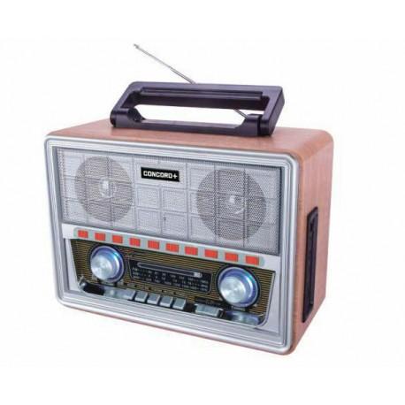 قیمت رادیو اسپیکر کلاسیک چوبی طرح قدیمی کنکورد Concord RF-903BT-B